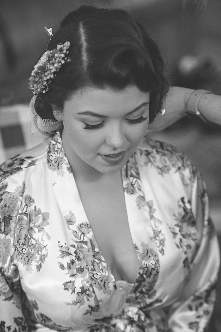 Vintage Hair Make Up Bride Bridal Quirky Rustic Natural Winter Wedding http://www.rebeccadouglas.co.uk/