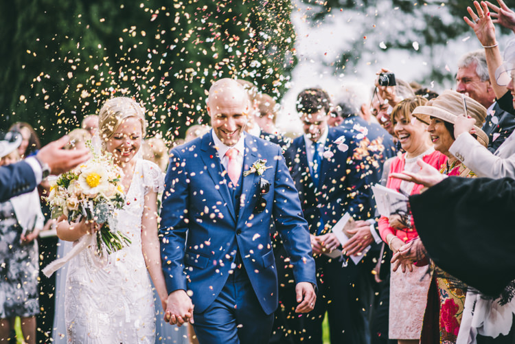 Confetti Throw Bride Groom Petals Home Made Country Festival Wedding http://www.jamespowellphotography.co.uk/