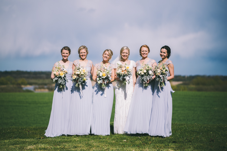 Long Grey Bridesmaid Dresses Coast Home Made Country Festival Wedding http://www.jamespowellphotography.co.uk/