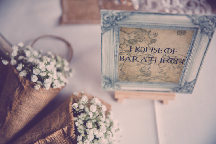Stationery Table Names Alternative Game of Thrones Fete Wedding http://hayleybaxterphotography.com/