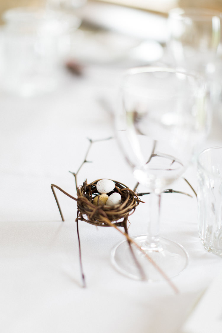 Nest Favours Mini Eggs Beautiful Barn Bird Wedding http://www.melissabeattie.com/