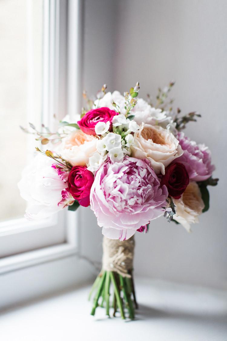 Pink Peony Peonies Bouquet Flowers Rose Bride Bridal Beautiful Barn Bird Wedding http://www.melissabeattie.com/