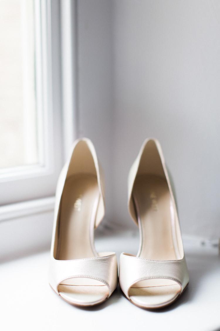 White Peep Toe Heels Shoes Bride Bridal Beautiful Barn Bird Wedding http://www.melissabeattie.com/