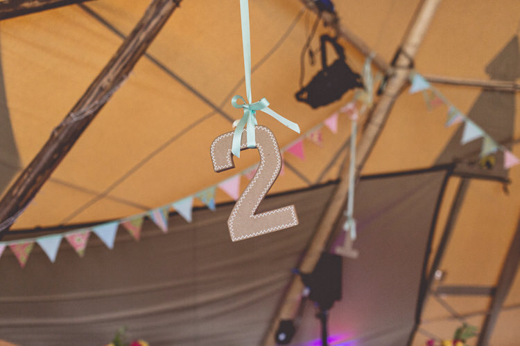 Hanging Table Number DIY Tipi Camping Wedding http://www.wearetheclarkes.com/