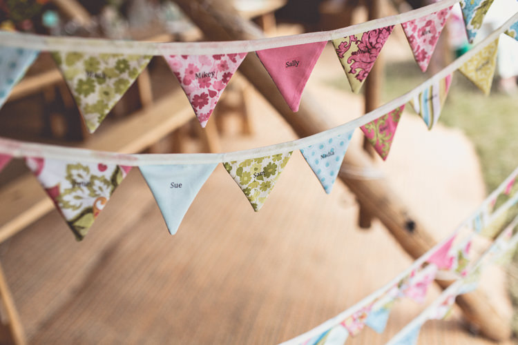 Bunting Seating Plan Table Chart DIY Tipi Camping Wedding http://www.wearetheclarkes.com/