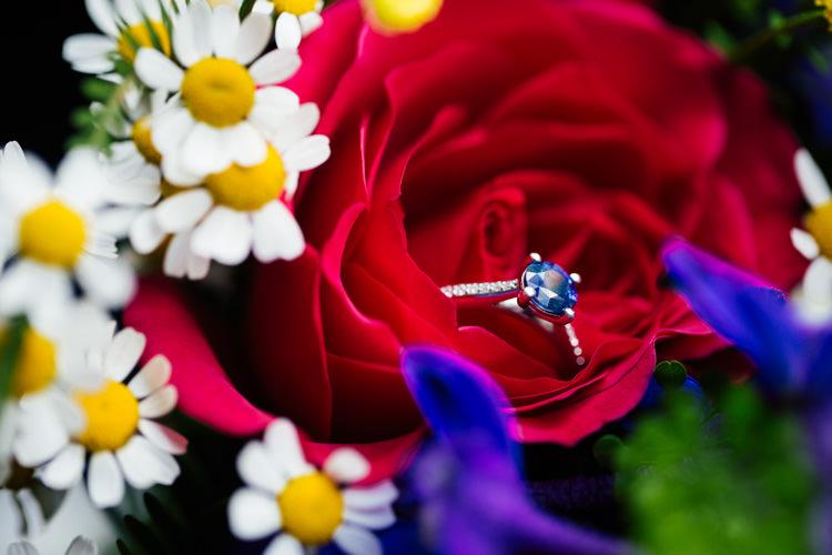 Sapphire Engagement Ring Multicoloured Fun Creative Wedding http://www.catlaneweddings.com/