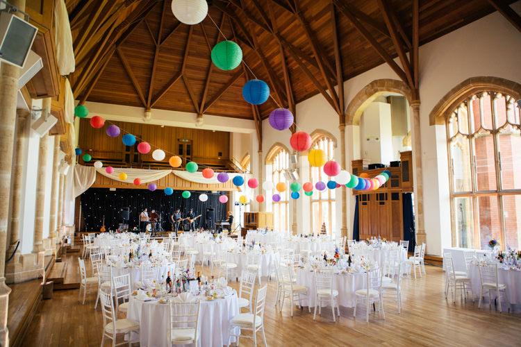 Bedford School Multicoloured Fun Creative Wedding http://www.catlaneweddings.com/