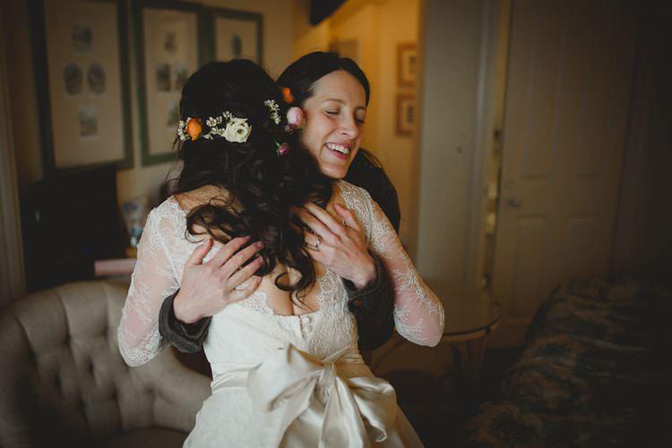 Lyn Ashworth Dress Gown Bride Bridal Lace Sleeves Flowers Hair Indie Rustic Beach Marquee Wedding http://www.abiriley.co.uk/
