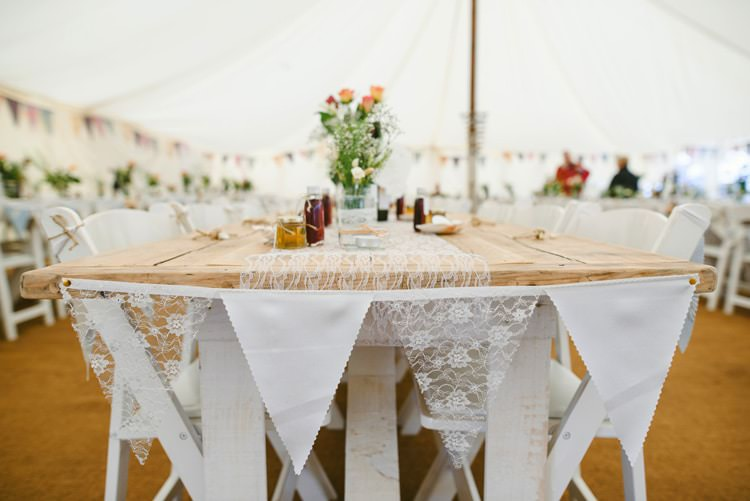 Lace Bunting White Table Cloth Indie Rustic Beach Marquee Wedding http://www.abiriley.co.uk/