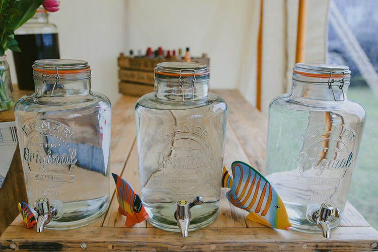 Kilner Drink Dispenser Indie Rustic Beach Marquee Wedding http://www.abiriley.co.uk/