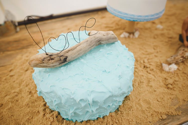 Driftwood Cake Topper Wire Indie Rustic Beach Marquee Wedding http://www.abiriley.co.uk/