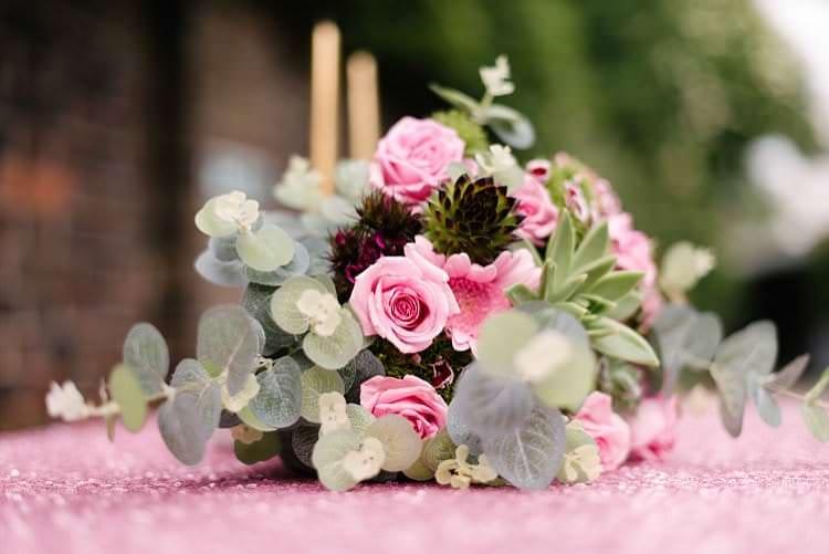 Tropical 1920s Pink Budget Wedding http://lilysawyer.com/