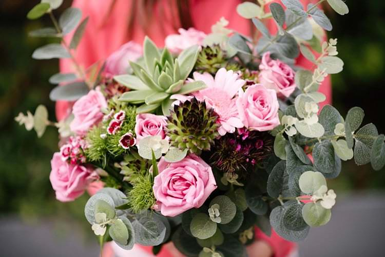 Bouquet Flowers Bride Bridal Roses Succulents Tropical 1920s Pink Budget Wedding http://lilysawyer.com/