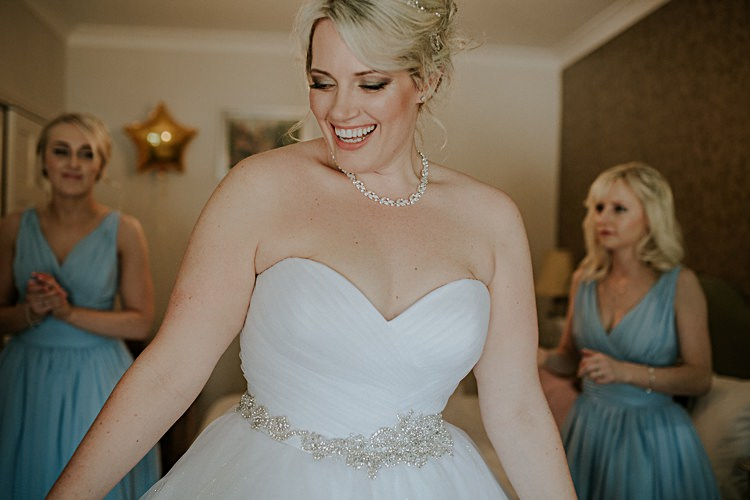 Sweetheart Dress Bride Bridal Belt Sparkly Allure Bridals Pretty Pale Blue Gold Fairy Lit Barn Wedding http://lolarosephotography.com/