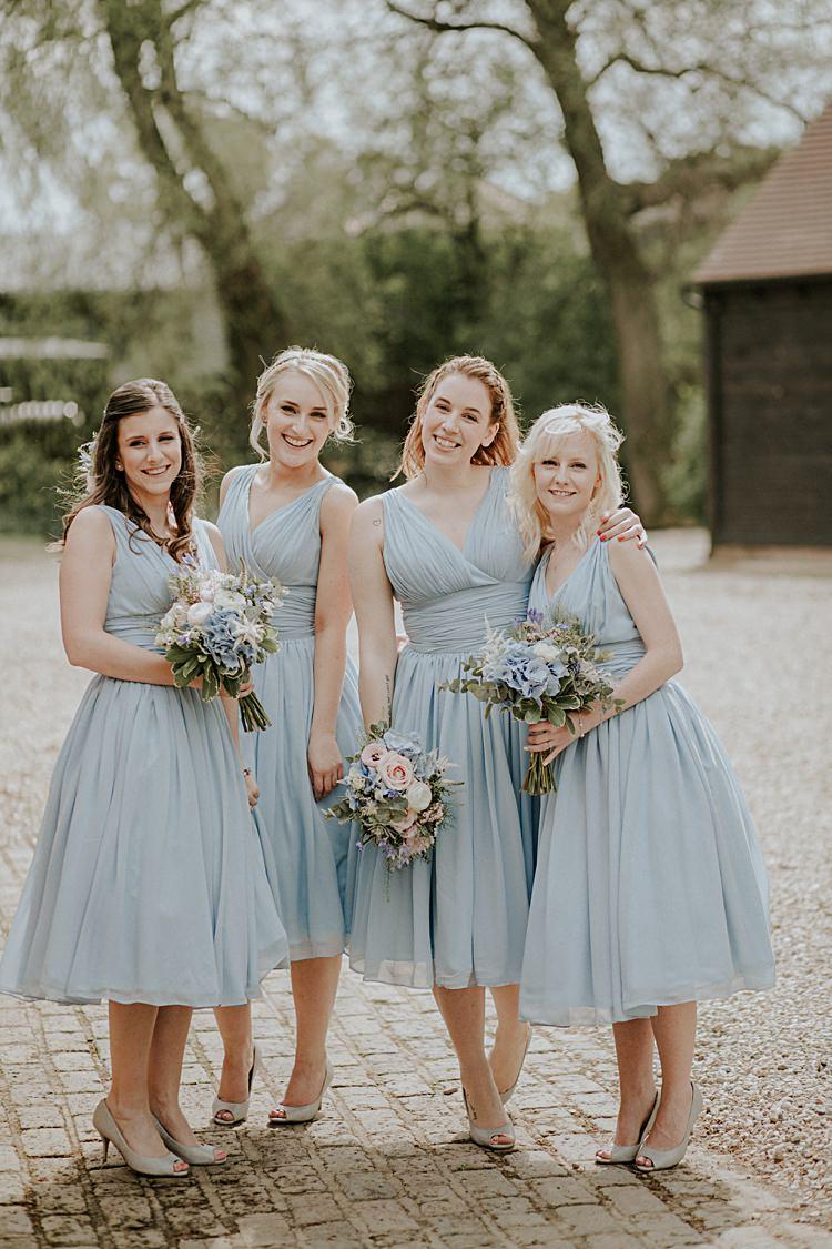 Pretty Pale Blue Amp Gold Fairy Lit Barn Wedding Whimsical