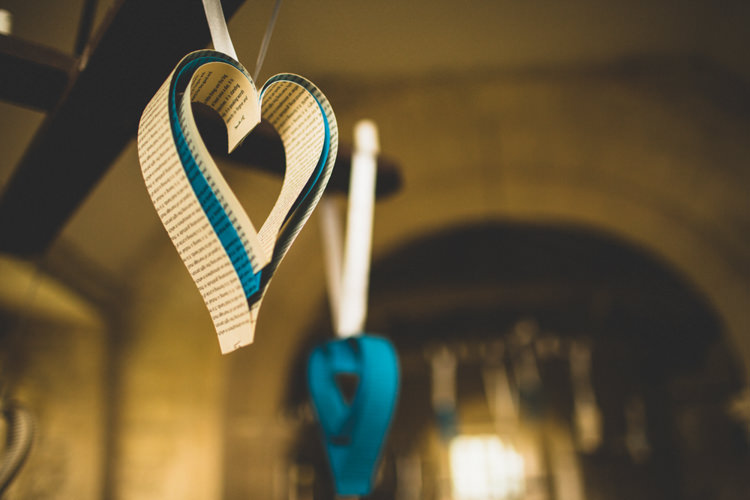 Hanging Hearts Paper Decor Rustic Tipi Farm Wedding http://aniaames.co.uk/