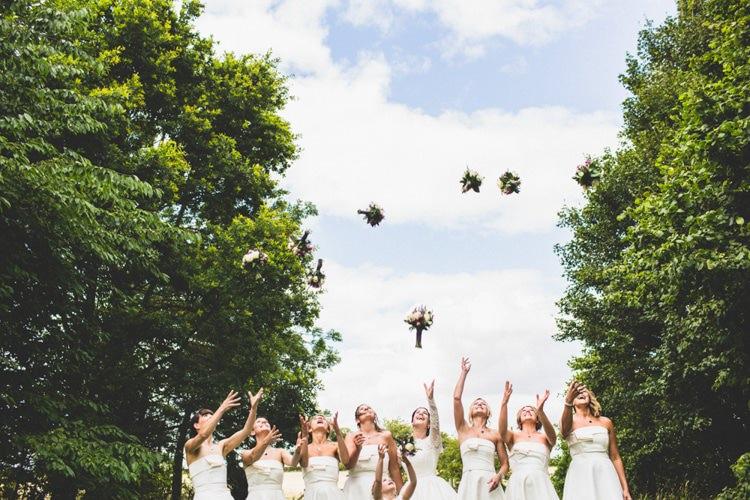 Bouquet Throw Bride Bridesmaids Rustic Tipi Farm Wedding http://aniaames.co.uk/