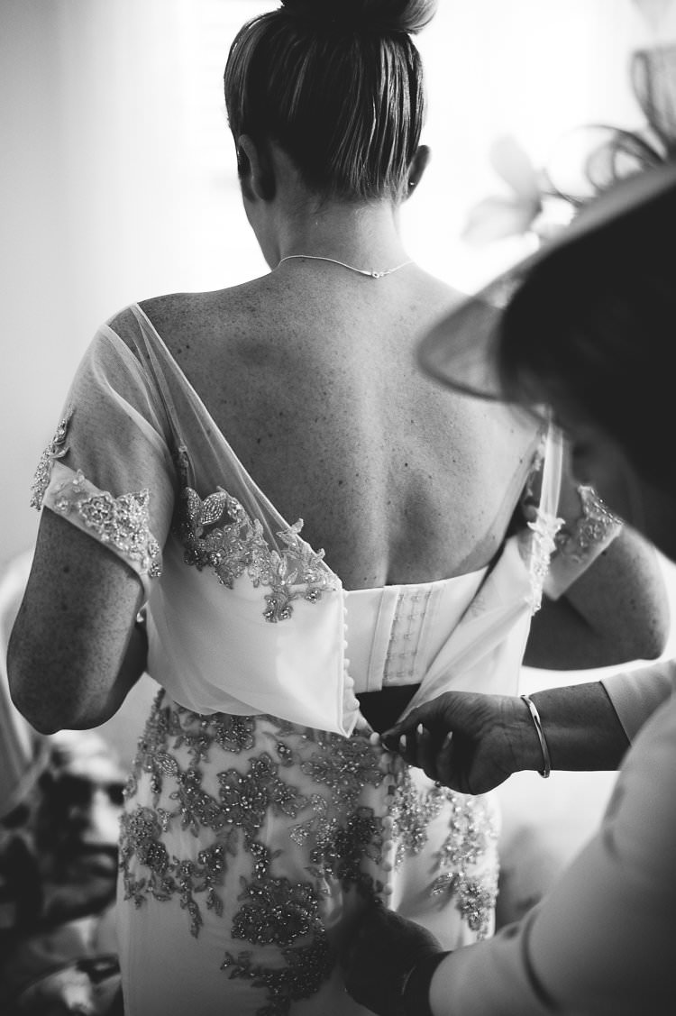 Bride Beaded Sleeved Enzoani Bridal Gown St Tropez Destination Wedding http://www.gemmamcauleyphotography.com/