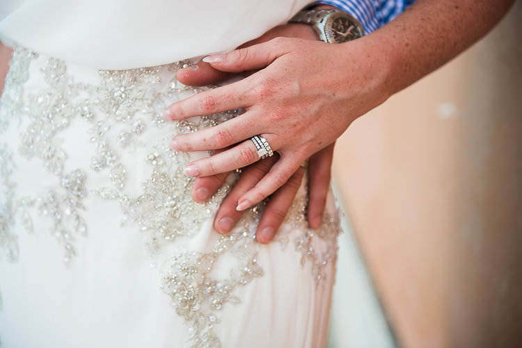 Bride Engagement Wedding Rings Beaded Enzoani Bridal Gown St Tropez Destination Wedding http://www.gemmamcauleyphotography.com/
