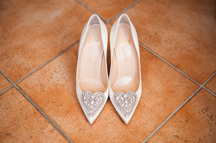 Bride Shoes Christian Louboutin Heart Bling Bridal Accessories St Tropez Destination Wedding http://www.gemmamcauleyphotography.com/