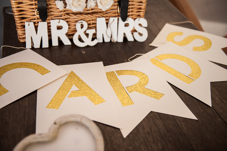 Reception Card Table Bunting Mr Mrs Sign Basket Roses St Tropez Destination Wedding http://www.gemmamcauleyphotography.com/