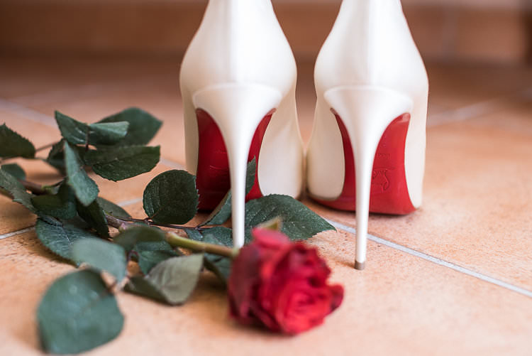 Bride Shoes Christian Louboutin Heels Bridal Accessories Red Rose St Tropez Destination Wedding http://www.gemmamcauleyphotography.com/