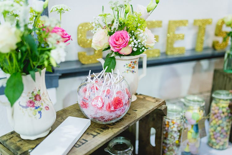 Crates Sweeties Flowers Vases Sweet Pastel Afternoon Tea Wedding http://slepokur.photoshelter.com/