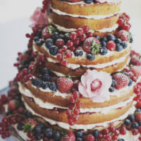 Naked Wedding Cake Ideas Sponge Bare Layer Victoria Berries Inspiration http://www.annahardy.co.uk/