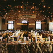 Creative Aeroplane Travel Theme Village Hall Wedding