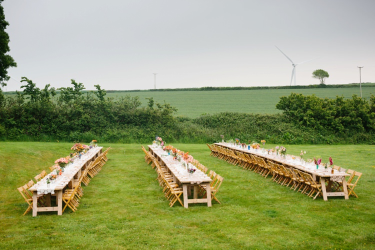 Long Tables Rustic Lawn Grounds Beautiful Outdoor Country House Wedding http://www.christinewehrmeier.com/