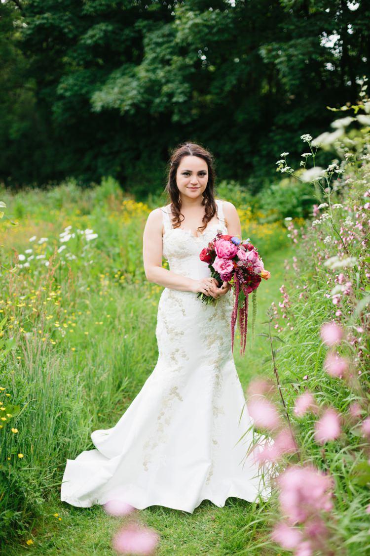 Bride Bridal Dress Gown Straps Beautiful Outdoor Country House Wedding http://www.christinewehrmeier.com/