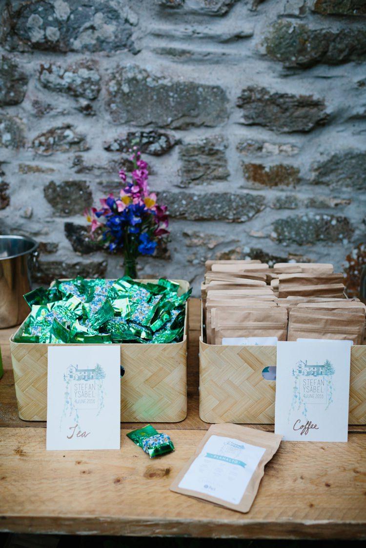 Tea Coffee Favours Beautiful Outdoor Country House Wedding http://www.christinewehrmeier.com/
