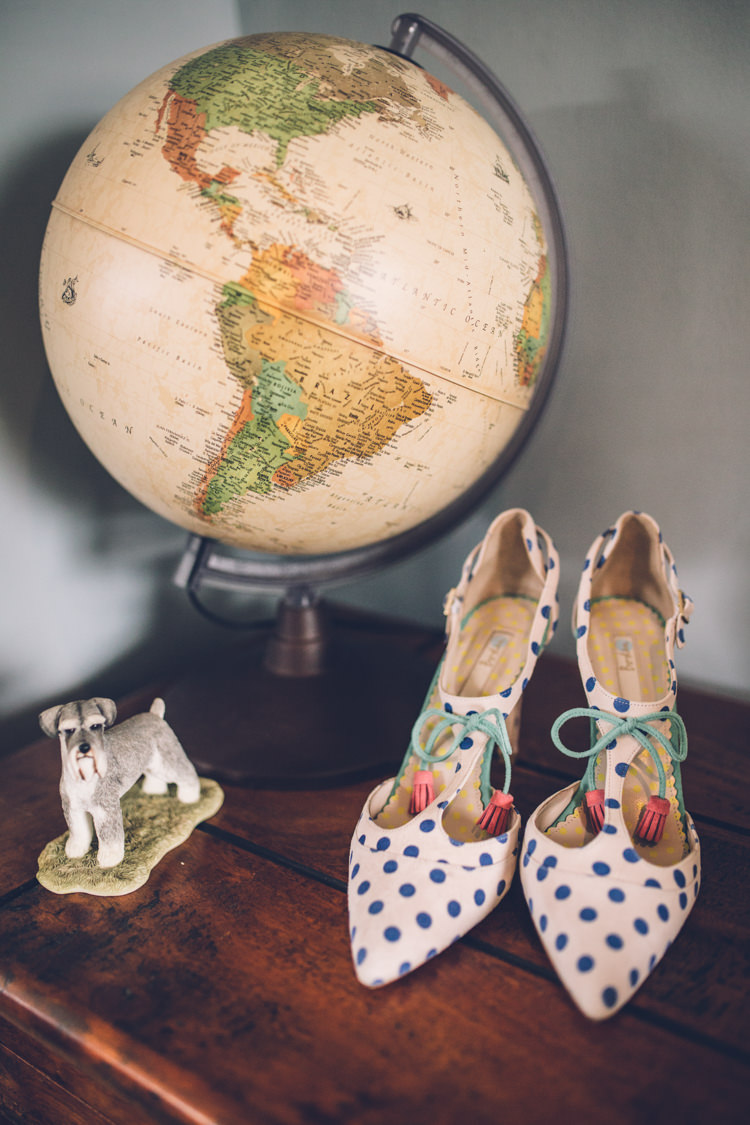 Boden Shoes Heels Bride Polka Dot Spots Retro 1950s Vintage Wedding http://amyfaithphotography.com/