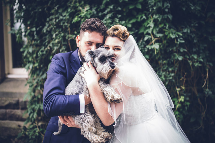 Dog Pet Bride Groom Retro 1950s Vintage Wedding http://amyfaithphotography.com/