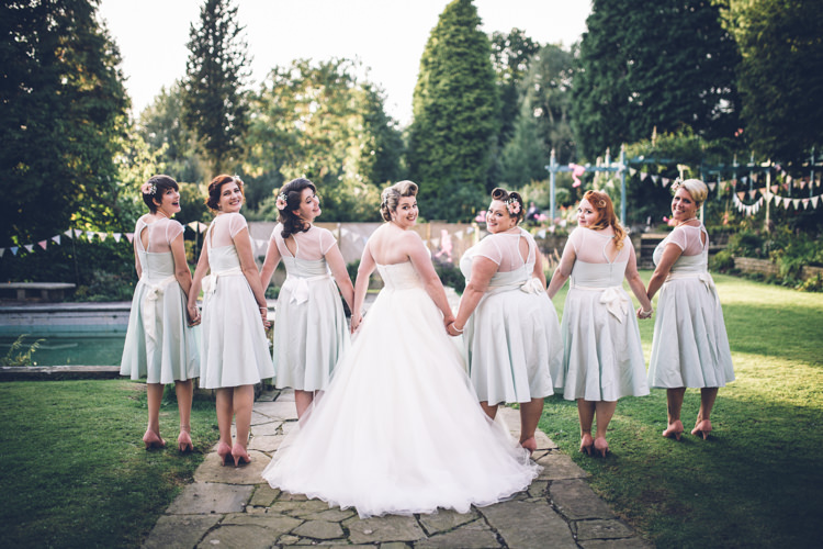 Bridesmaids Prom Dresses Bows Short Retro 1950s Vintage Wedding http://amyfaithphotography.com/