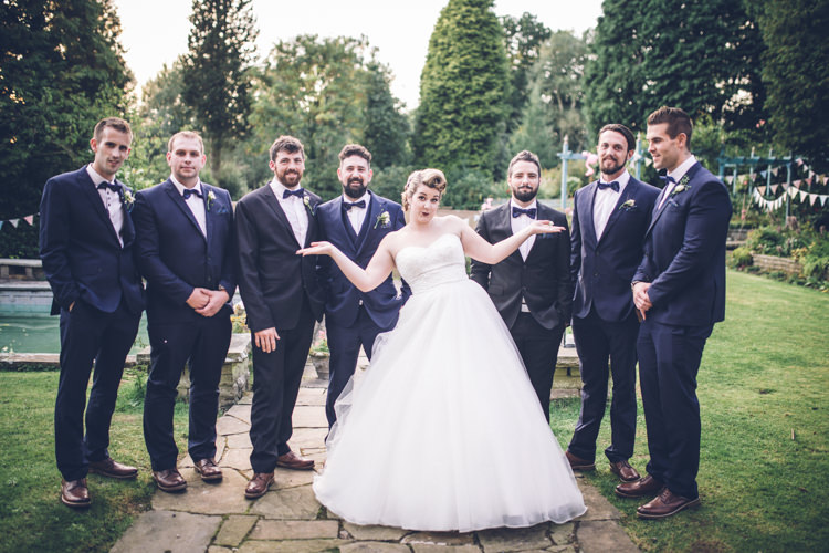 Bow Tie Groom Groomsmen Suits Navy Retro 1950s Vintage Wedding http://amyfaithphotography.com/