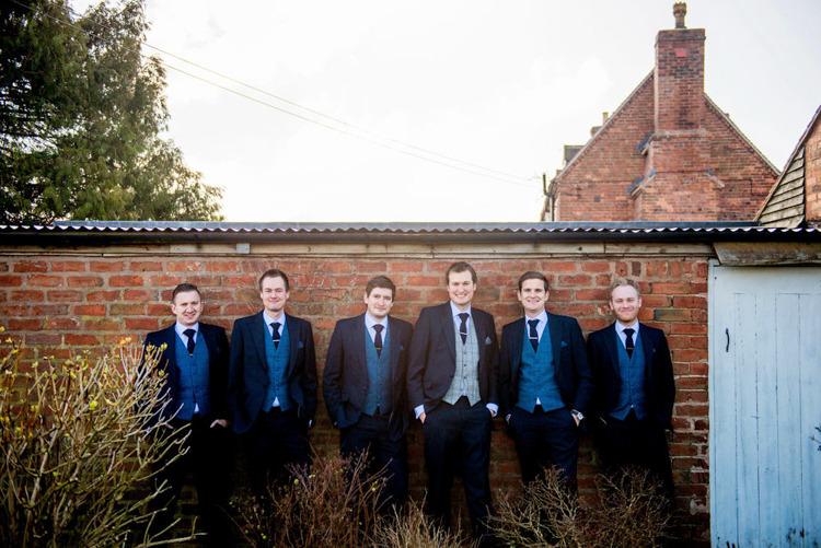 Groom Suit Groomsmen Navy Blue Waistcoats Natural Pretty Pale Pink Wedding http://www.lisacarpenterphotos.com/