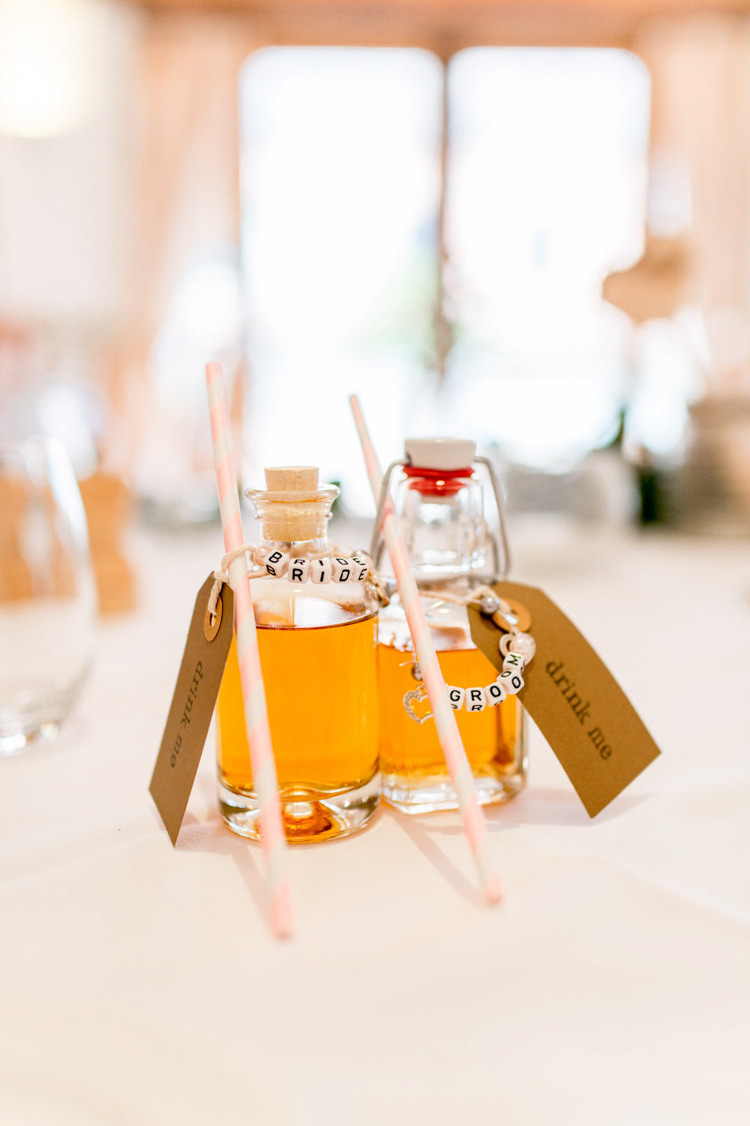 Drink Favours Bracelet Name Place Setting Card Natural Pretty Pale Pink Wedding http://www.lisacarpenterphotos.com/
