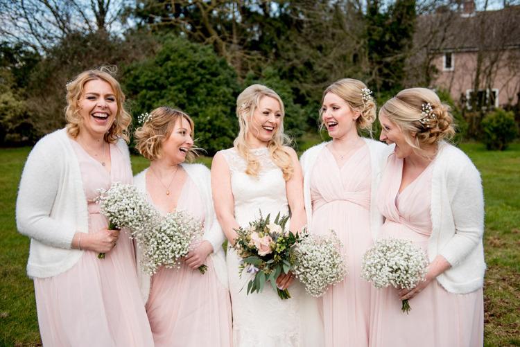 Bridesmaid Dresses Cardigans Baby Breath Gyp Natural Pretty Pale Pink Wedding http://www.lisacarpenterphotos.com/