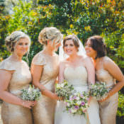 Gold Sequin Outdoor Humanist Botanical Gardens Wedding