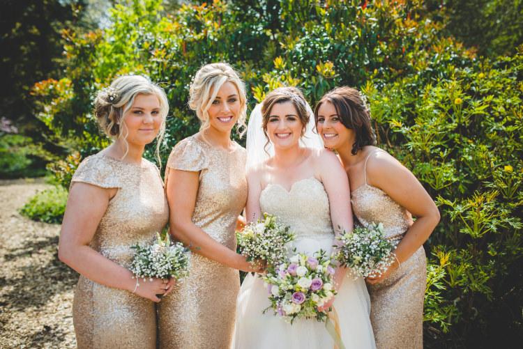 Bridesmaid Dresses Gold Sequin Outdoor Humanist Wedding http://www.emmahillierphotography.com/