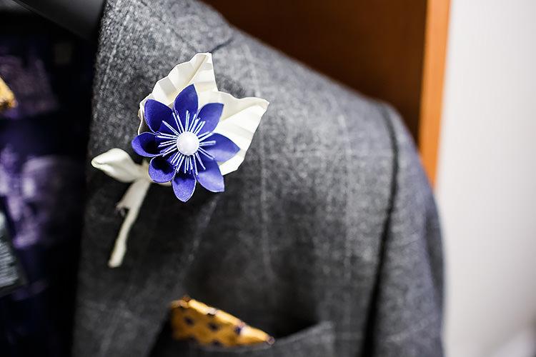 Paper Flower Buttonhole Vintage Doctor Who Wedding http://www.linaandtom.com/
