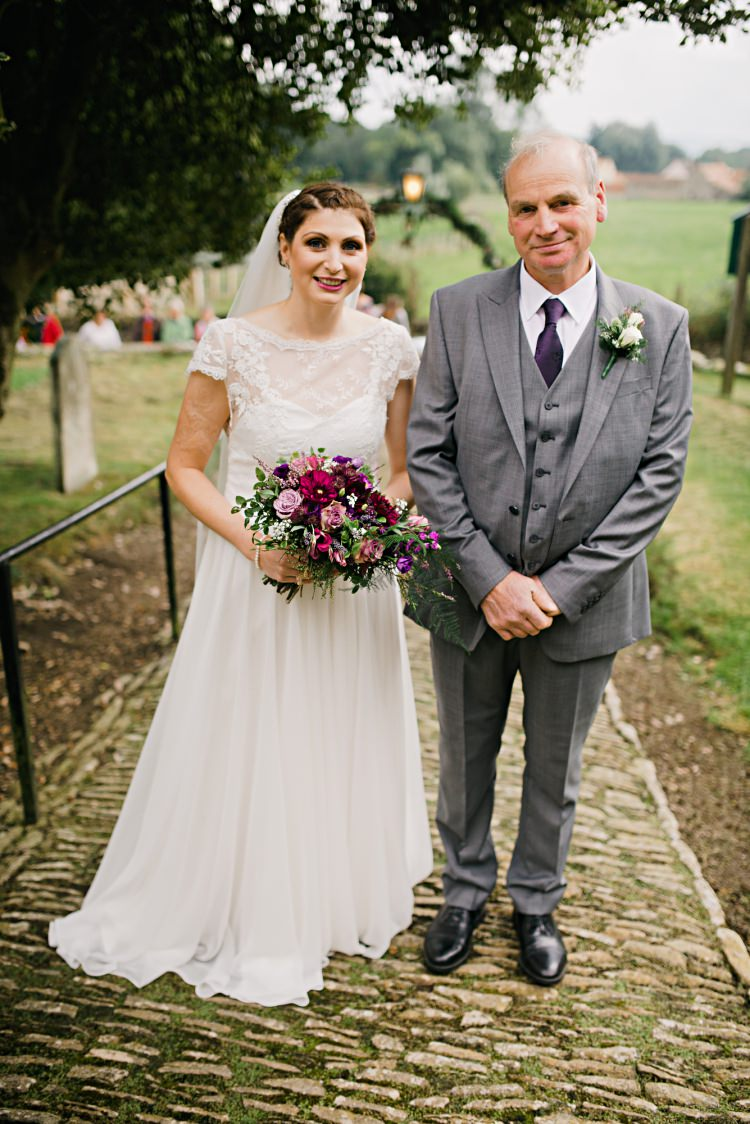 Bride Father Beautiful Bicycle Country Marquee Wedding http://www.emmabphotography.com/