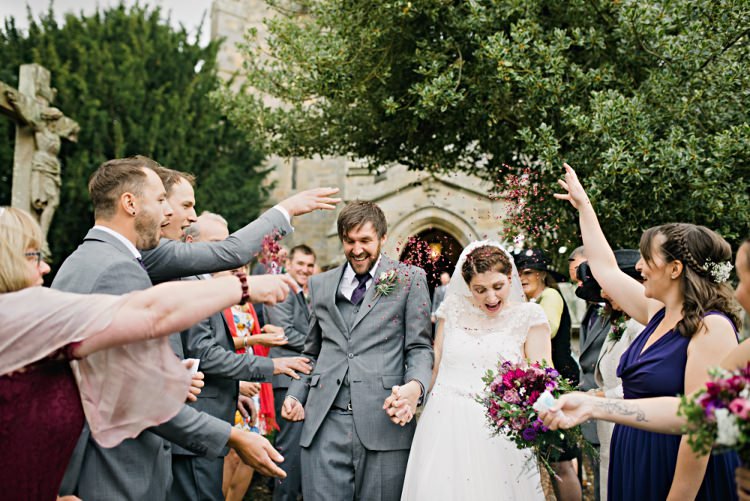 Confetti Throw Shot Bride Groom Beautiful Bicycle Country Marquee Wedding http://www.emmabphotography.com/