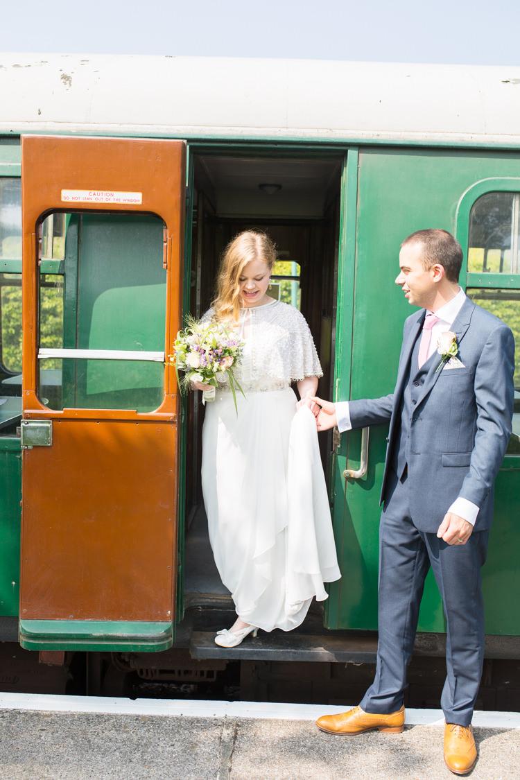 Transport DIY Steam Railway Village Hall Wedding http://www.charlotterazzellphotography.com/