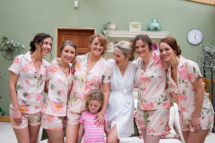 PJs Pyjamas Bride Bridesmaid Pretty Relaxed Countryside Wedding http://katherineashdown.co.uk/