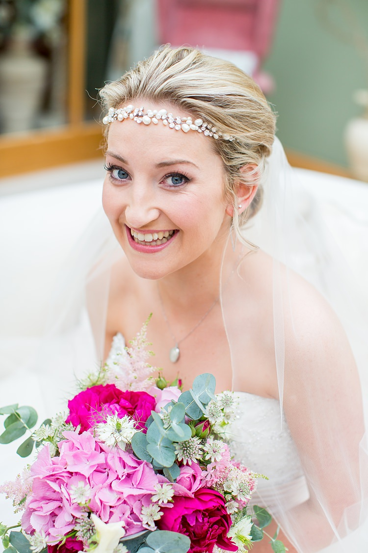 Bride Bridal Make Up Hair Band Forehead Pretty Relaxed Countryside Wedding http://katherineashdown.co.uk/
