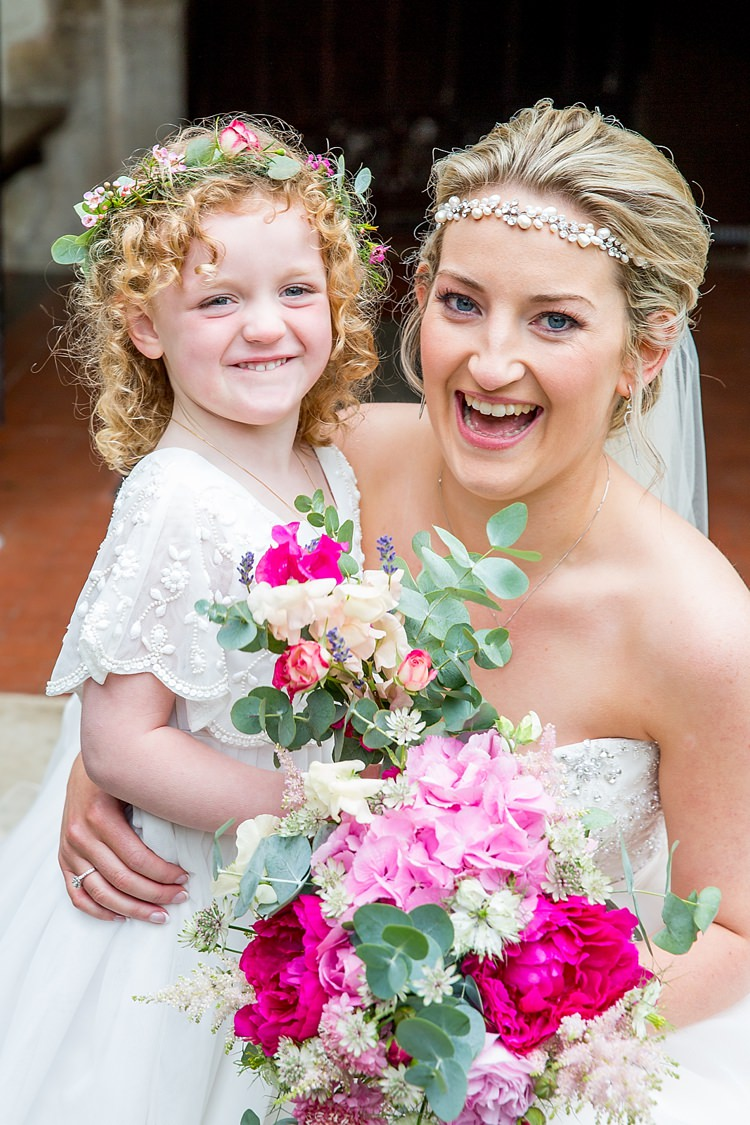 Flower Girl Bride Bridal Bouquets Pretty Relaxed Countryside Wedding http://katherineashdown.co.uk/