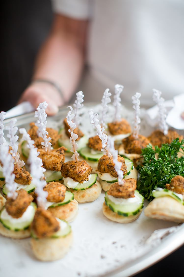 Canapes Pretty Relaxed Countryside Wedding http://katherineashdown.co.uk/