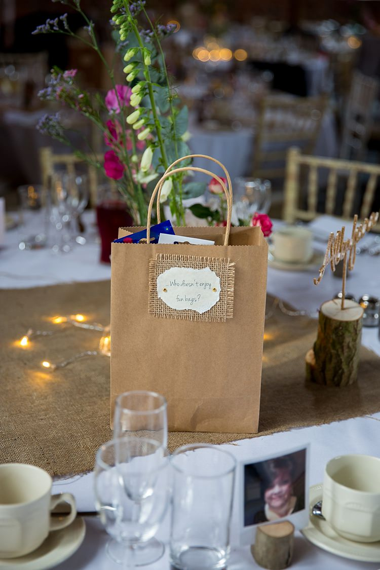 Fun Bag Table Guests Goodies Pretty Relaxed Countryside Wedding http://katherineashdown.co.uk/